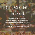 Collecte de déchets le 25/11/2018